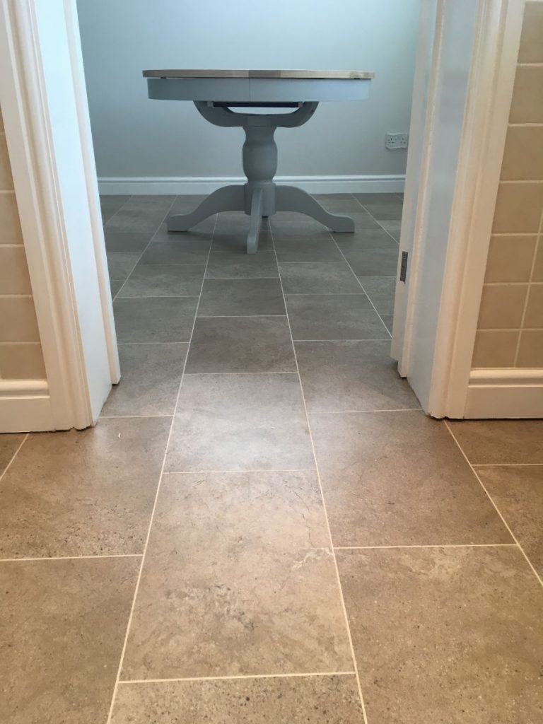 Karndean luxury vinyl tiles with feature strip